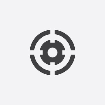 optical sight cutted identity template icon