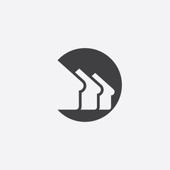 building cutted identity template icon