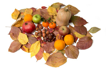A table of autumn fruits