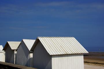 Strandhütten in der Normandie
