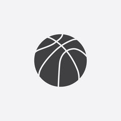 basketball ball cutted identity template icon