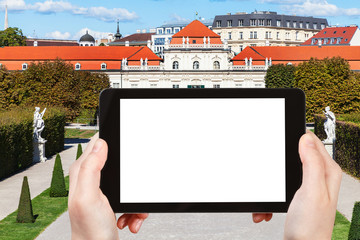 photographs Lower Belvedere Palace in Vienna