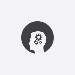 setting gear head cut identity template icon