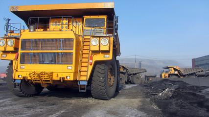 Truck transporting coal ore