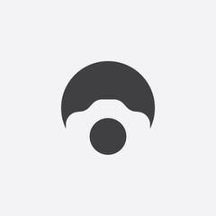 photo camera cut identity template icon