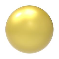 3d golden ball