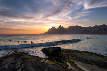 Wall Mural - Sunset View from Arpoador Rock, Rio de Janeiro