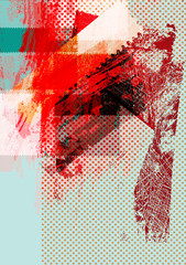 Abstract Grunge Background for Text