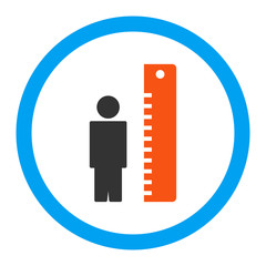Height Meter Rounded Vector Icon