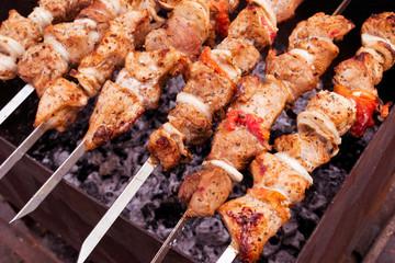 Delicious shish kebab