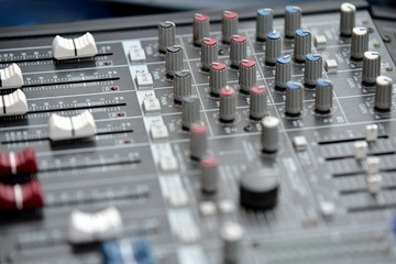Audio mixage table - macro detail