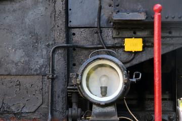 Wall Mural - Scheinwerfer einer historischen Dampflokomotive