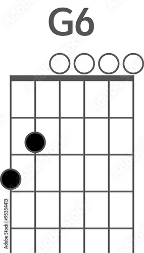 Guitar chord diagram to add to your projects, G6 chord 1445286705354 ...