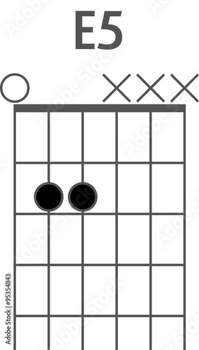 Guitar chord diagram to add to your projects, E5 chord\