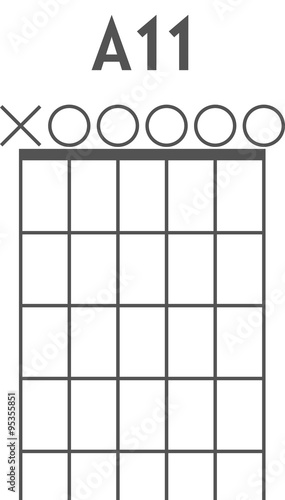 Guitar chord diagram to add to your projects, A11 open strings ...