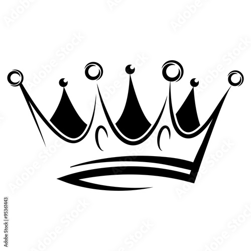 quotblack abstract crown for graphic design and logo on black