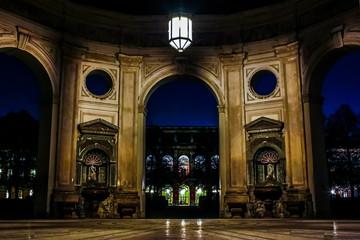 Dianatempel im Hofgarten (München) bei Nacht