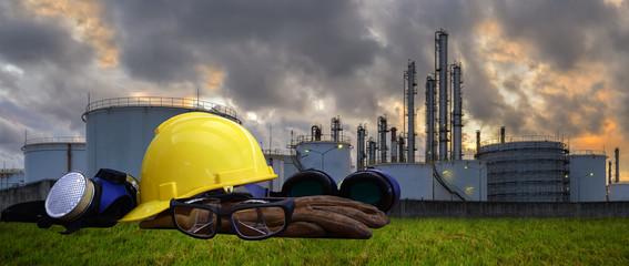 Oil ,Refinery ,Power work Safety helmet .