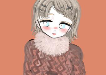 秋冬ファッションの女性