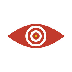 Eye on target icon. Eye with a target inside it.