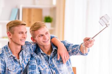 Two twin boys