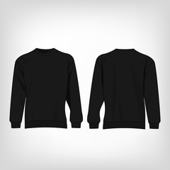Black sport sweater isolated vector
