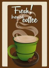 Fresh brewed coffee card