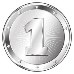 One Year Anniversary - Round Silver Badge