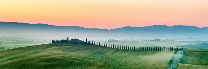 summer landscape of Tuscany, Italy.