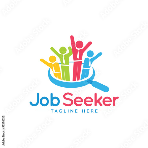 """Free Resources For Job Seekers: """"JOB SEEKER Logo Icon"""" Stock Image And Royalty-free Vector"""