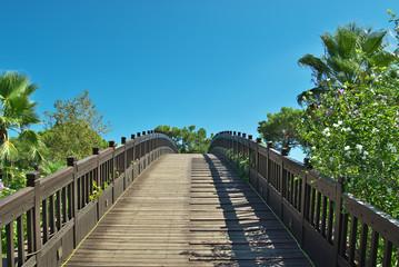 Bridge leading into the park