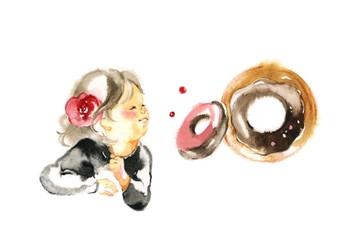 妹とドーナツ、ボルドー