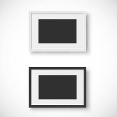 ベクター、白と黒の写真のフレーム