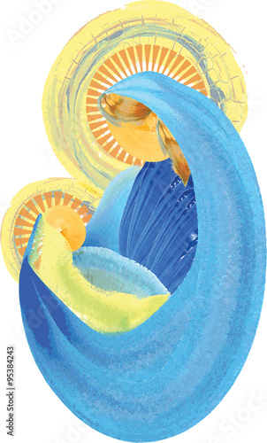 holy virgin mary painting