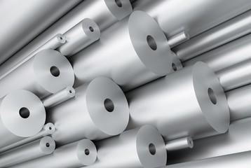 Aluminium Rohre gebürstet aufsteigend