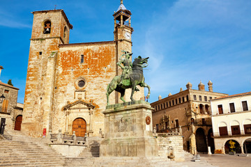 Statue of Fransisco Pisarro. Trujillo. Spain