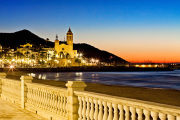 Church of Sant Bertomeu and Santa Tecla in Sitges. Spain