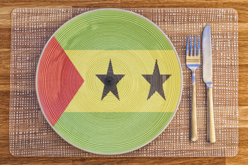 Dinner plate for Sao Tome and Principe