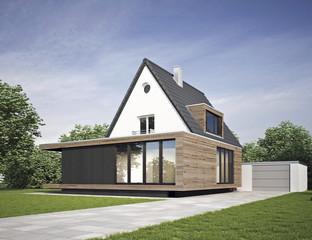 Haus modernisiert mit Anbau