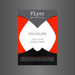Flyer Poster. Cover Brochure. Vector design.