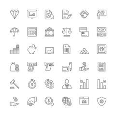 Line icons. Finances