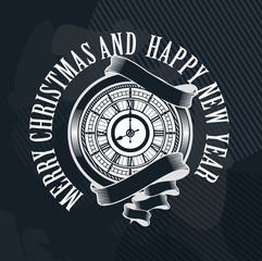 Merry Christmas clock