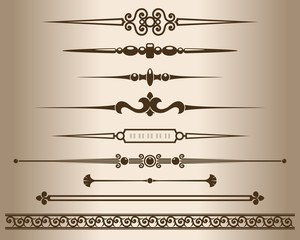 Decorative line dividers and ornaments.