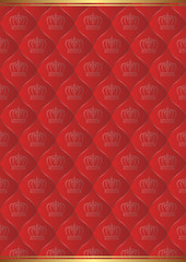 red background with royal pattern