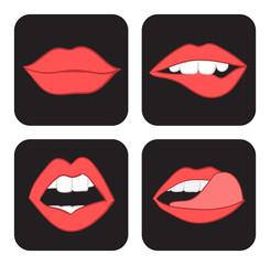 lips sketch set