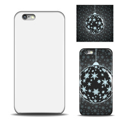 Realistic Phone case. Blank template for design. Vector illustration