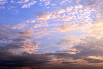 Sunrise cloudy sky background