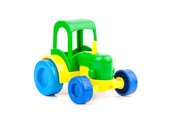 toy tractor isolated