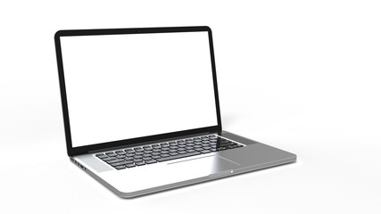 laptop computer on white background Wall mural