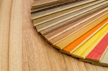 wooden blinds samples isolated